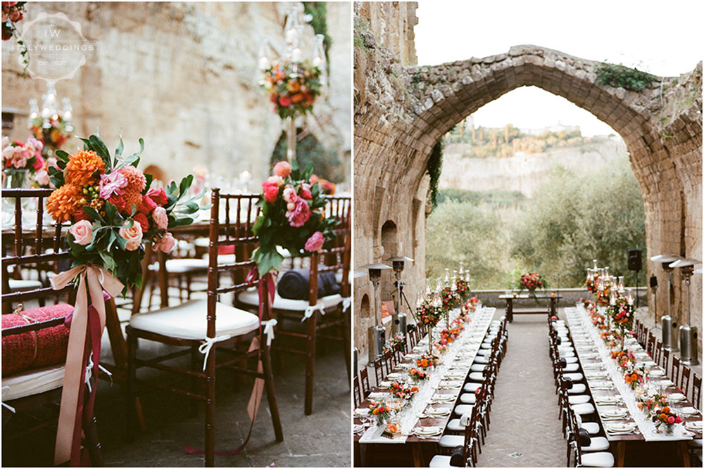 Medieval abbey wedding location Umbria