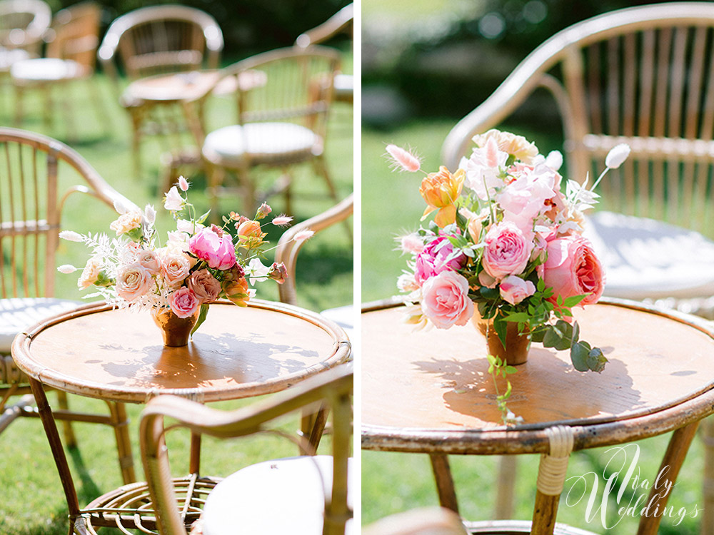 Dreamy vllla blessing in Tuscany floral details