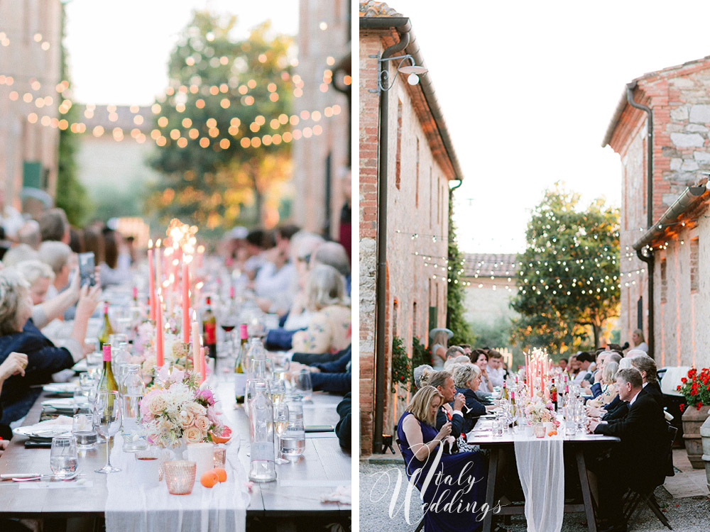 Dreamy vllla blessing in Tuscany table design