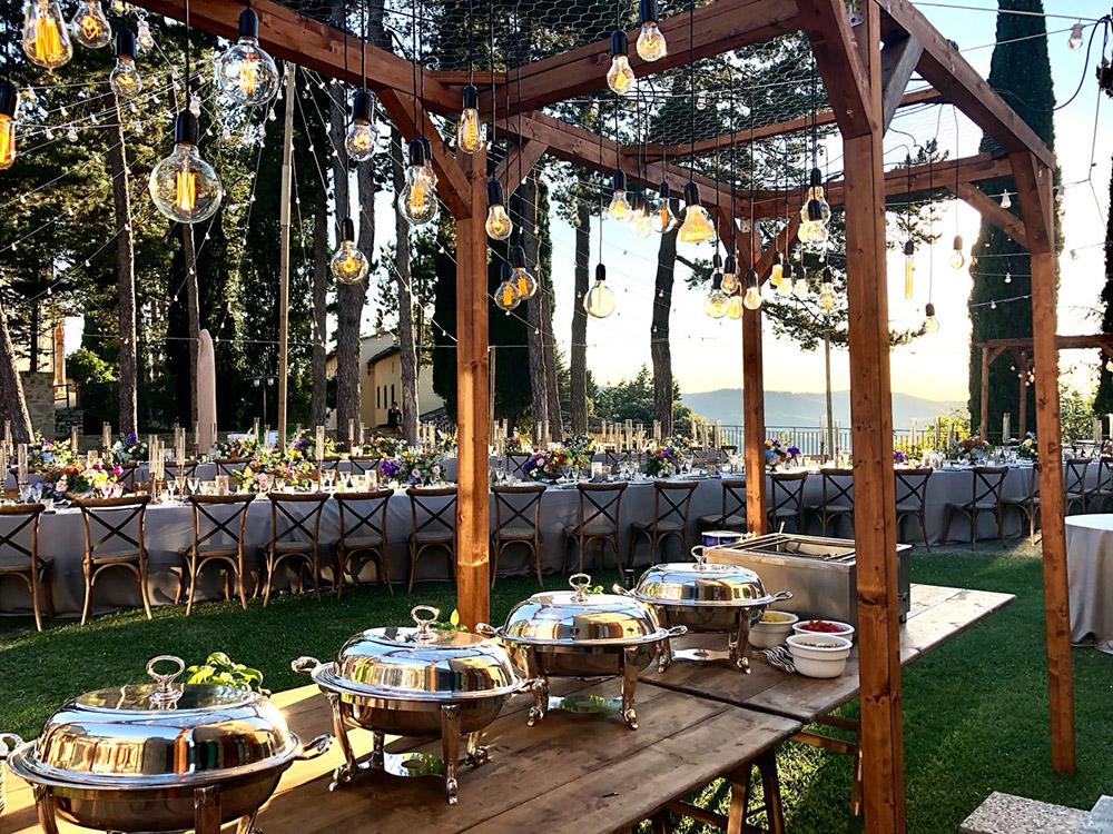 Chianti, Tuscany wedding villa converted village meal