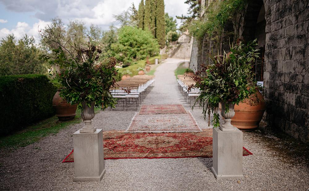 Chianti, Tuscany wedding villa converted village blessing