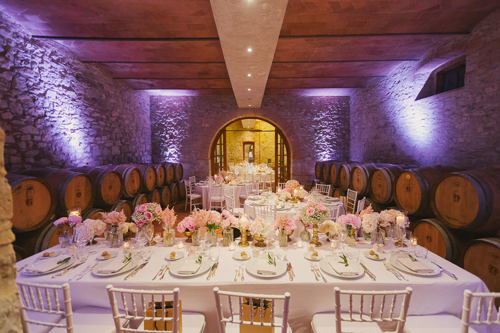 Chianti, Tuscany wedding villa converted village cantina
