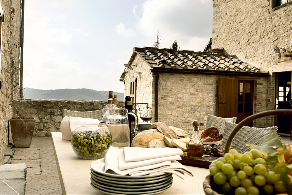 Chianti, Tuscany wedding villa converted village apartment