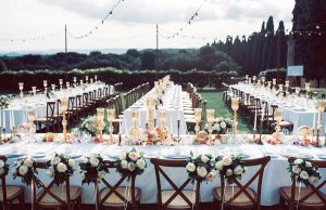 Borgo Scopeto Siena wedding on lawn