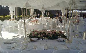 Borgo Scopeto Siena wedding meal