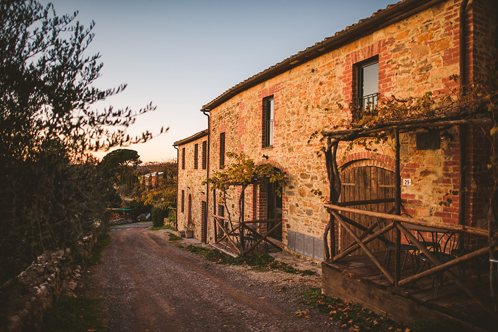 small villa in Siena countryside external