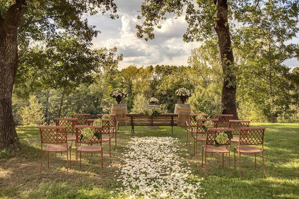 Rural wedding venue Arezzo blessing