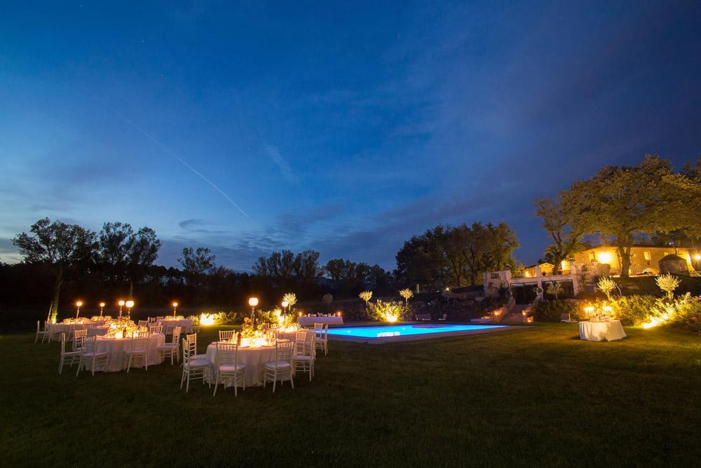 Rural wedding venue Arezzo meal