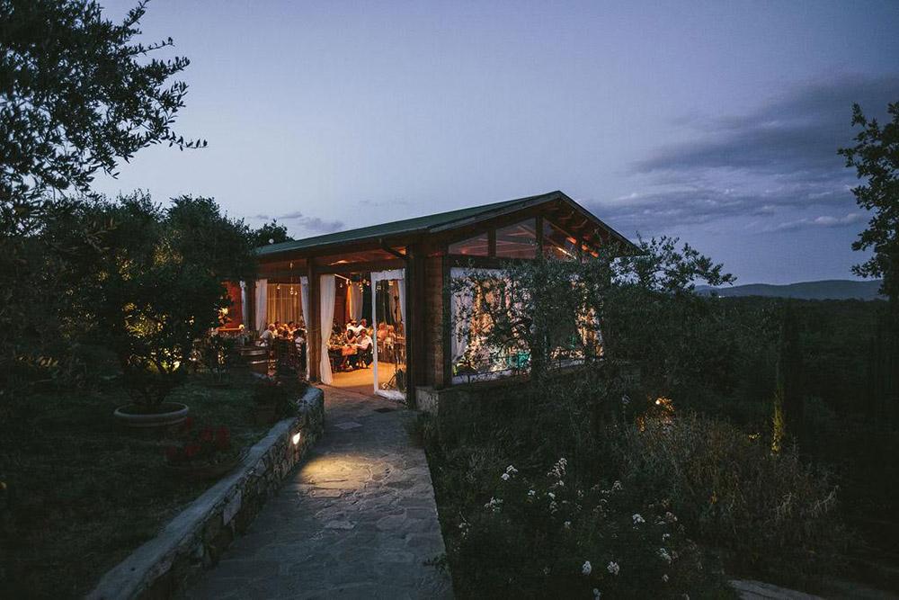 Country wedding villa Siena restaurant
