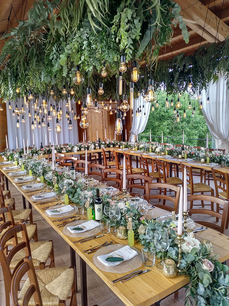 Country wedding villa Siena meal