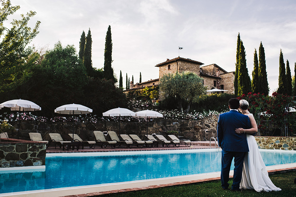 Country wedding villa Siena pool