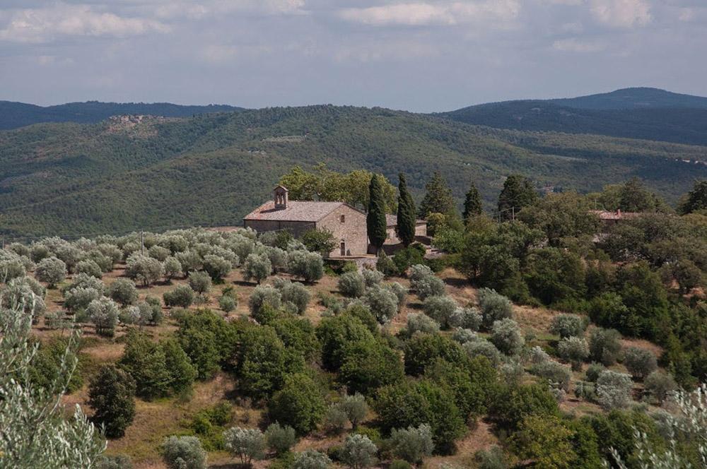 Country wedding villa Siena views