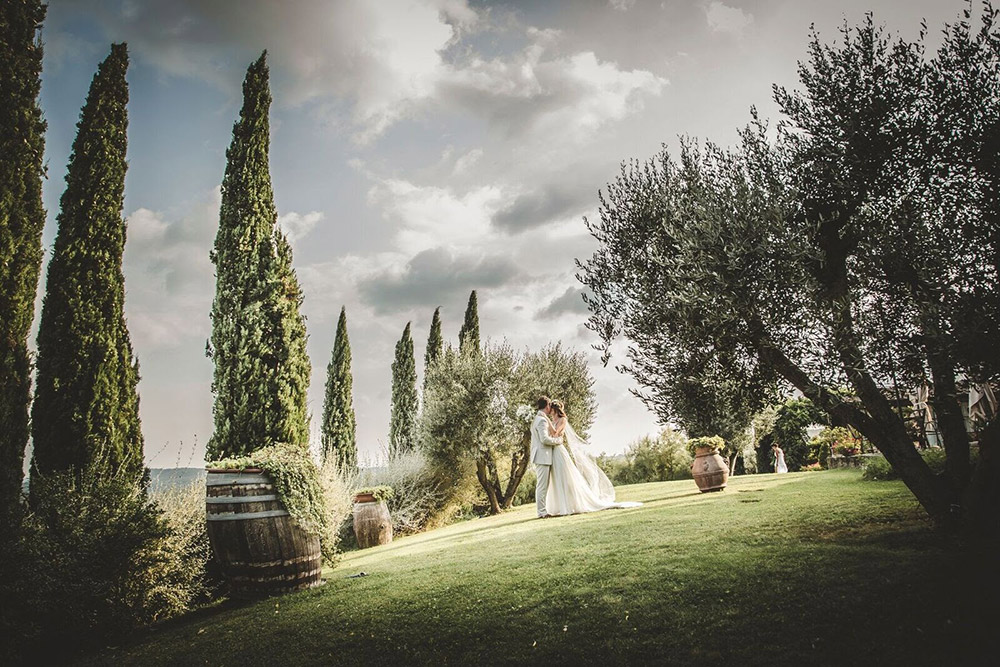 Country wedding villa Siena gardens