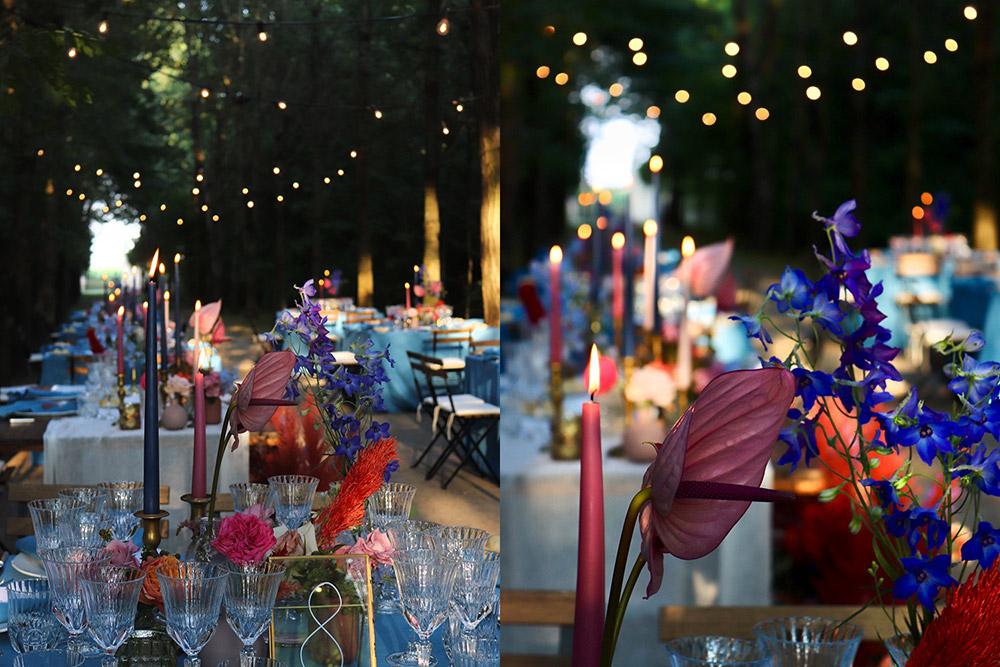 Convent wedding venue Garda meal