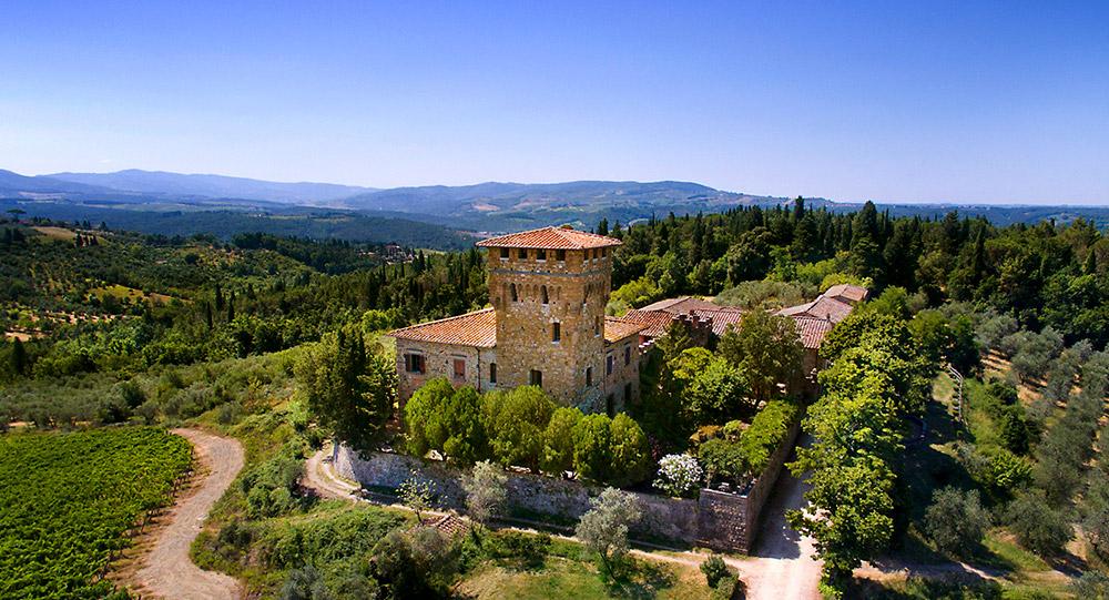 Chianti wedding villa view over tuscany