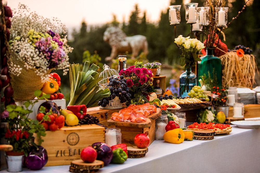 Chianti wedding villa cocktails
