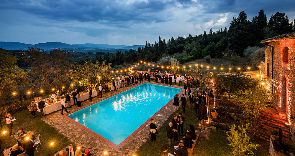 Chianti wedding villa pool