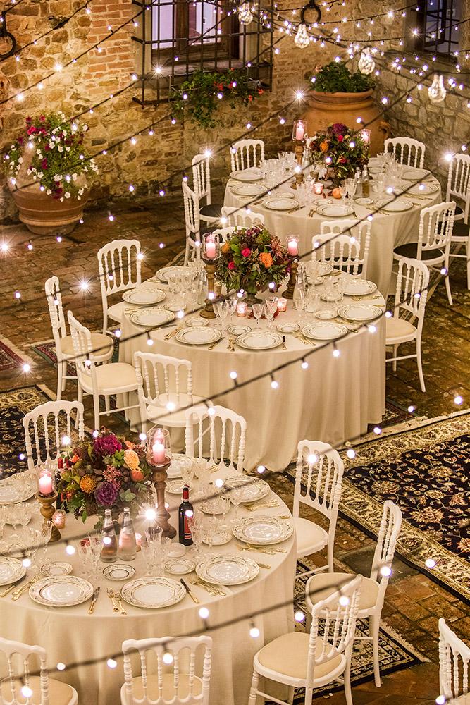 Chianti wedding villa meal