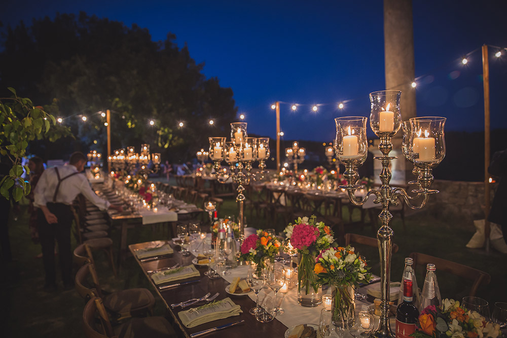 Chianti wedding villa meal gardens