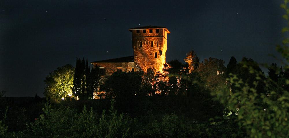 Chianti wedding villa night