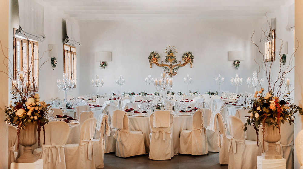 Chianti wedding villa salone