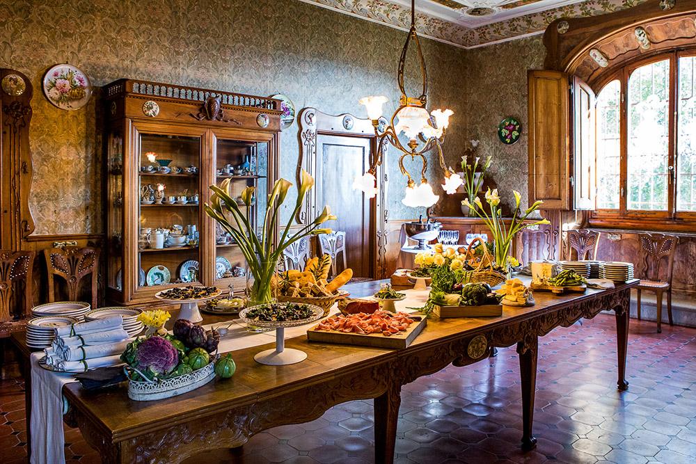 Chianti wedding villa dining room