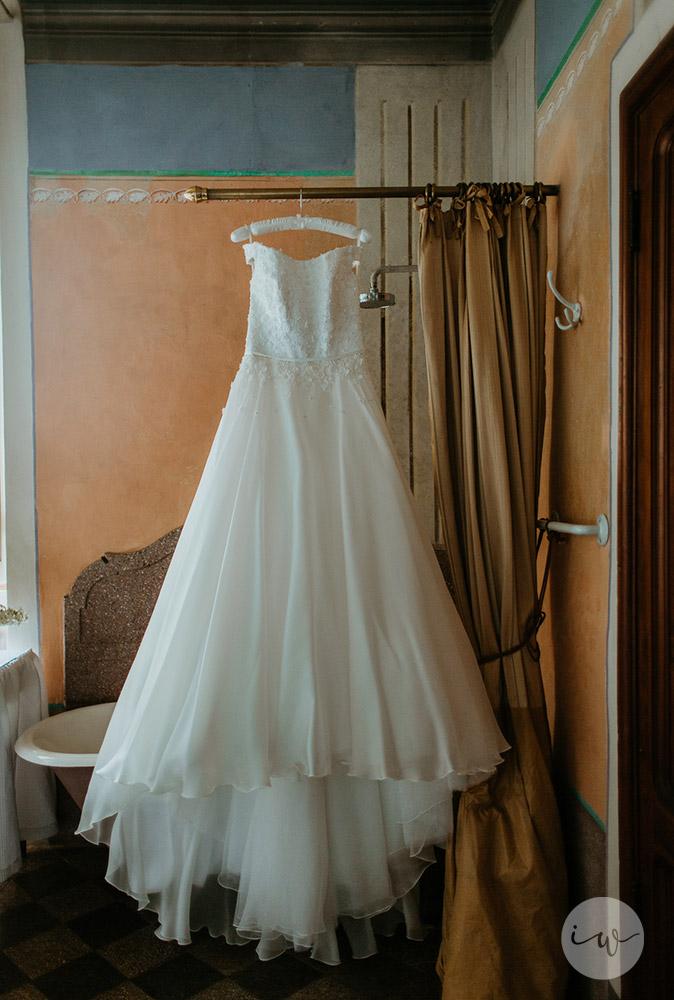Romantic blessing at Borgo Stomennano the dress