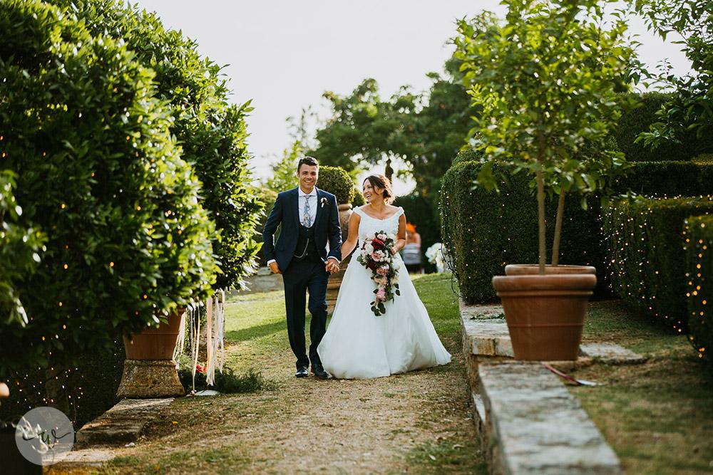 Romantic blessing at Borgo Stomennano the couple
