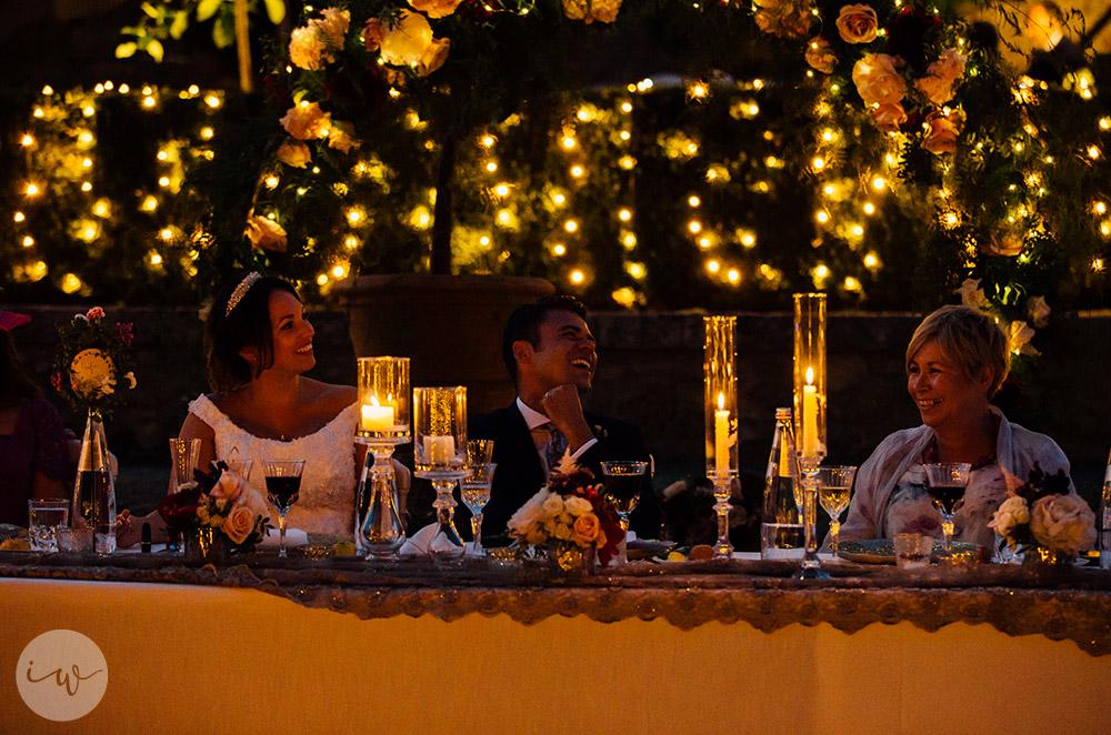 Romantic blessing at Borgo Stomennano meal