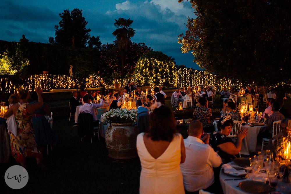 Romantic blessing at Borgo Stomennano fairy lights