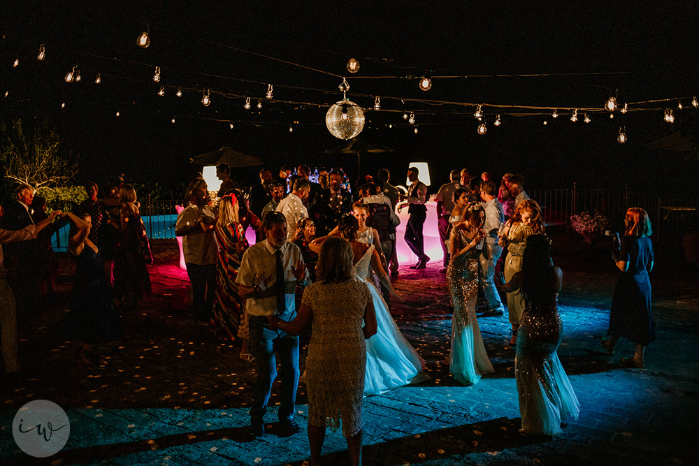 Romantic blessing at Borgo Stomennano dancing
