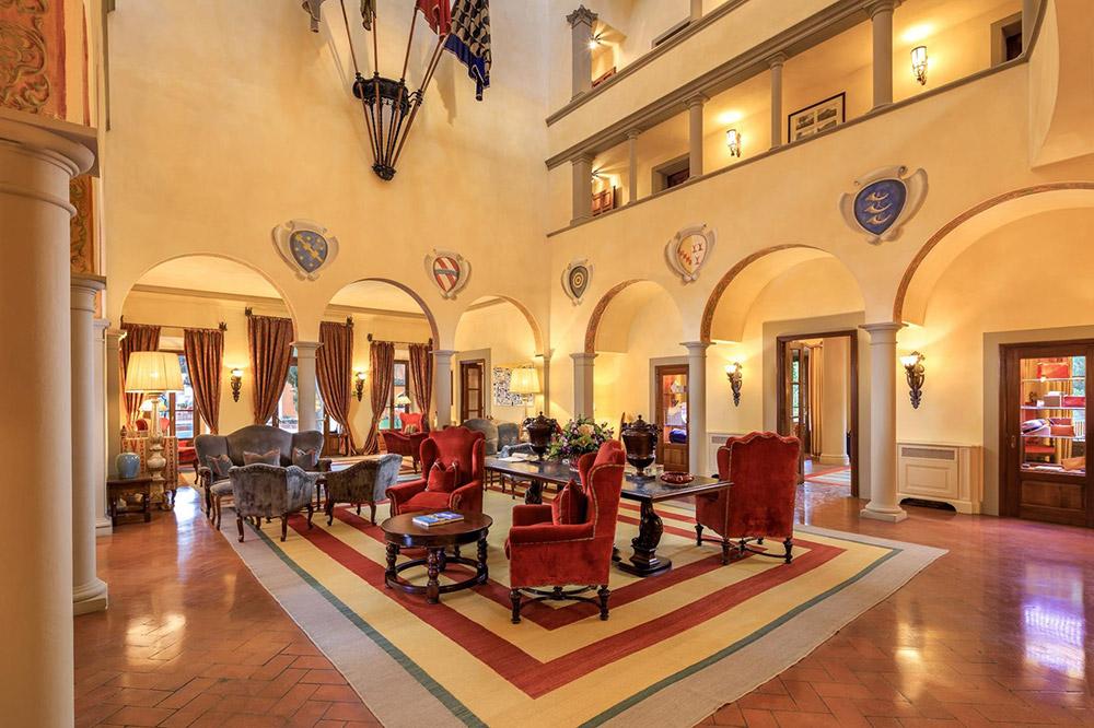 La Massa Florence luxury villa hall