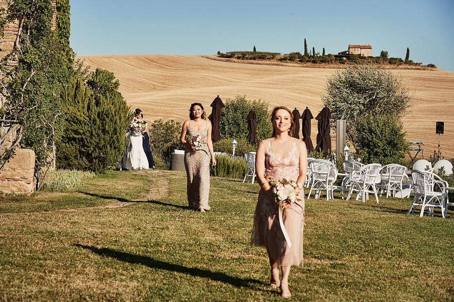 Small villa in Val D'Orcia Tuscany for wedding blessing
