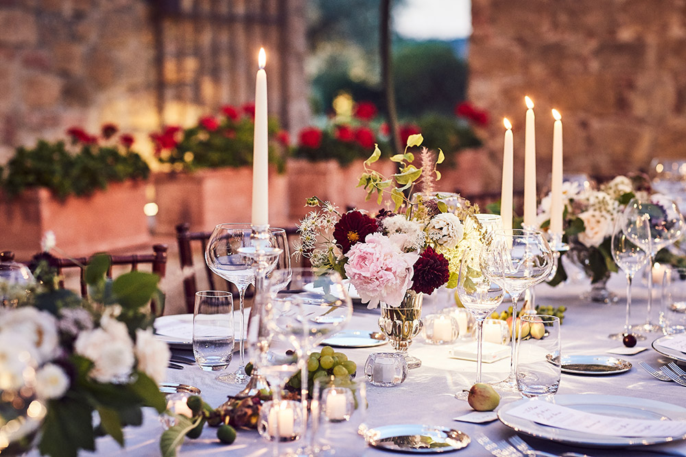 Small villa in Val D'Orcia Tuscany for wedding table