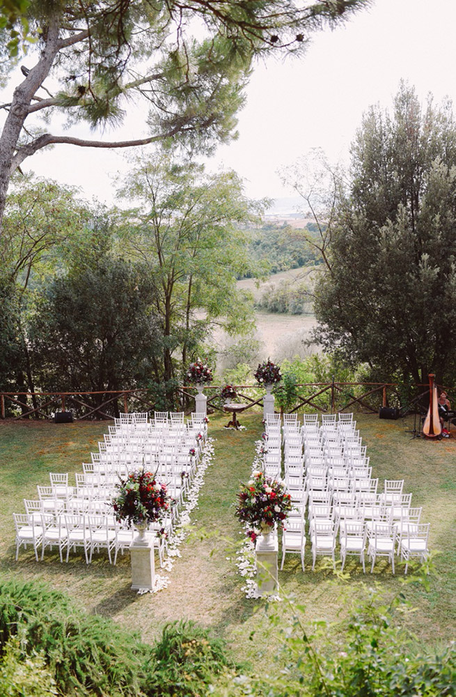 Tuscany romantic small wedding villa blessing