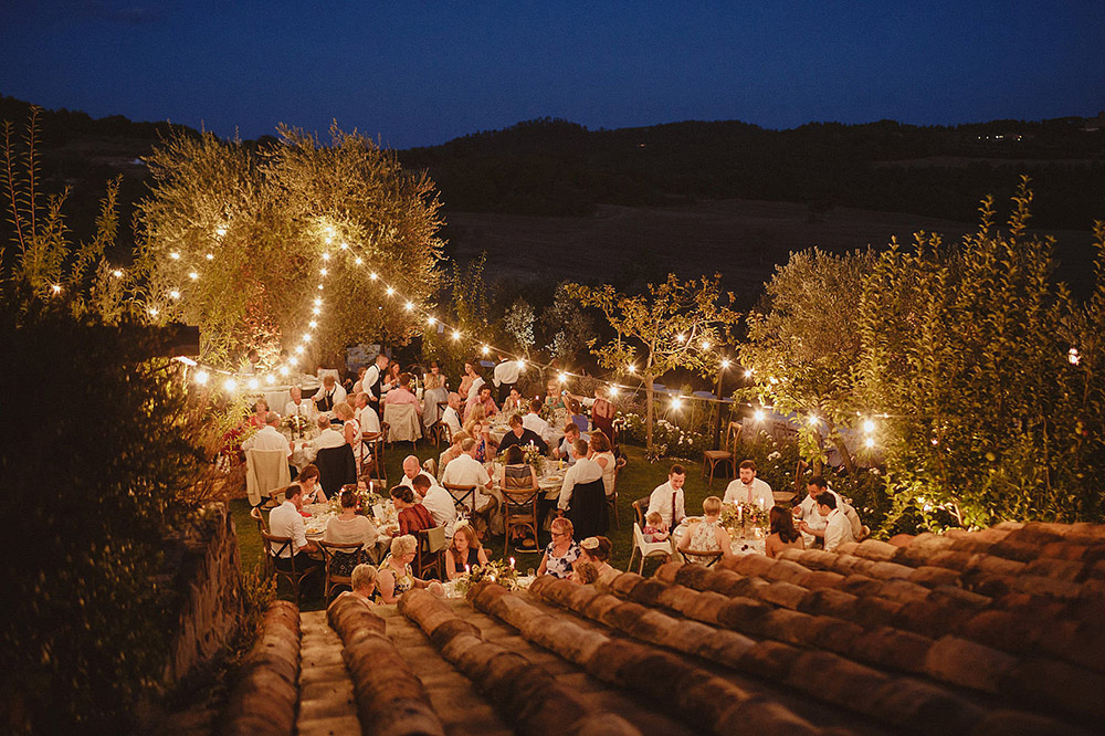 Tuscany romantic small wedding villa reception