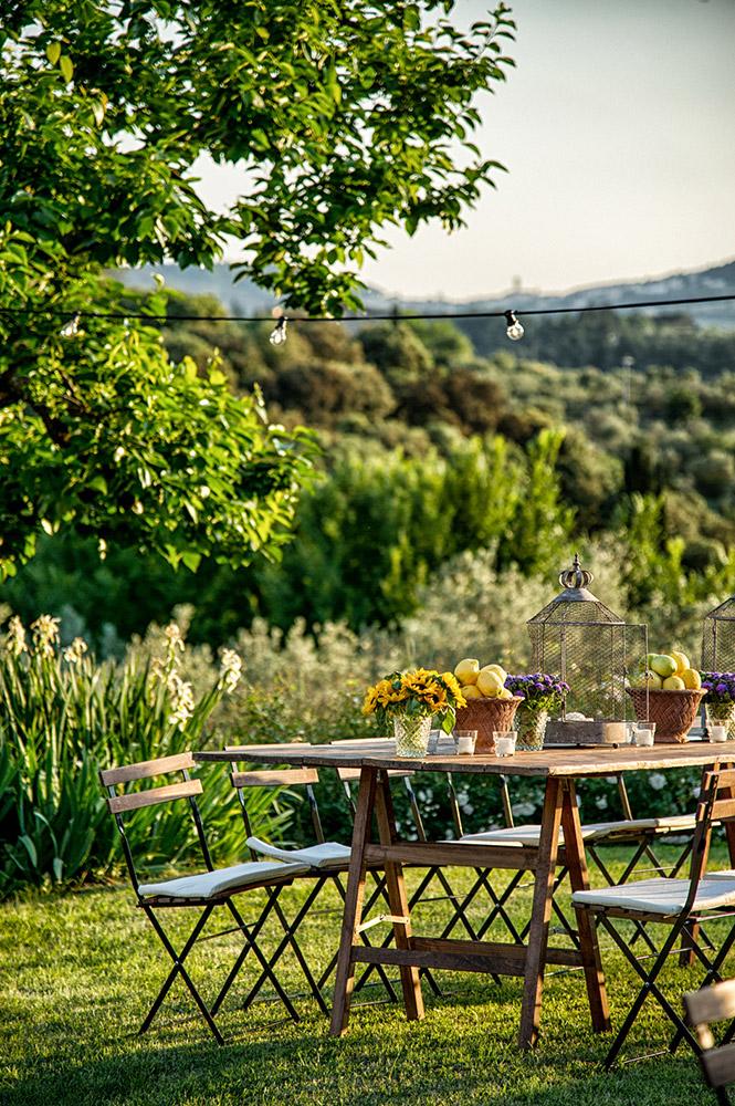 Villa Medicea di Lilliano Florence wedding venue meal