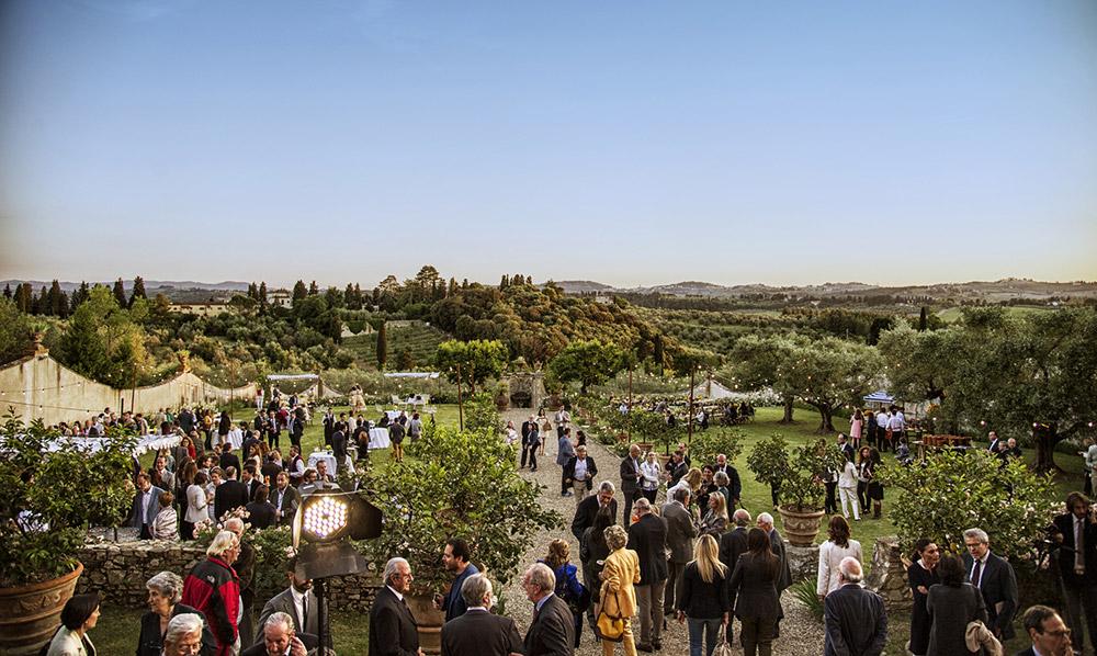 Villa Medicea di Lilliano Florence wedding venue gardens