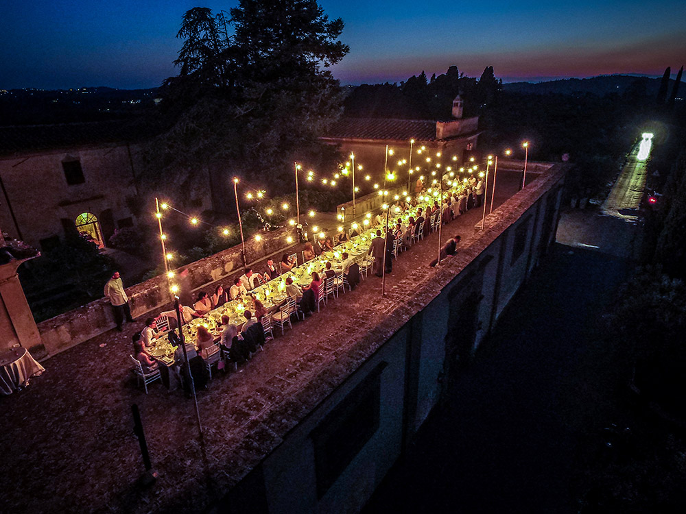 Villa Medicea di Lilliano Florence wedding venue meal
