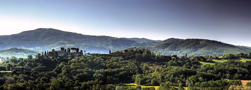 Castle in Umbria hotel and wedding retreat panorama