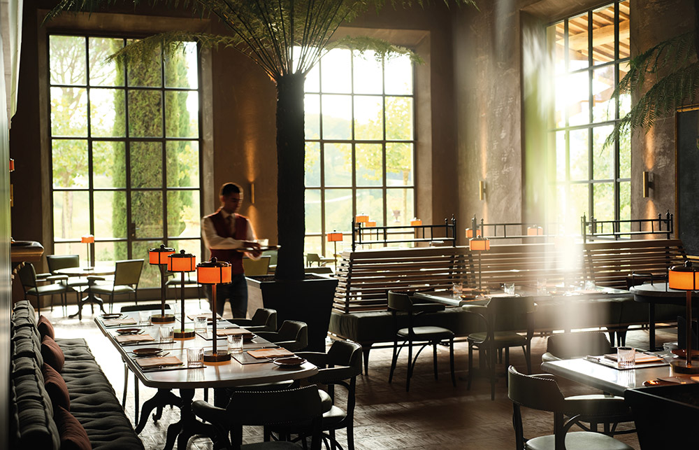 Castle in Umbria hotel and wedding retreat restaurant