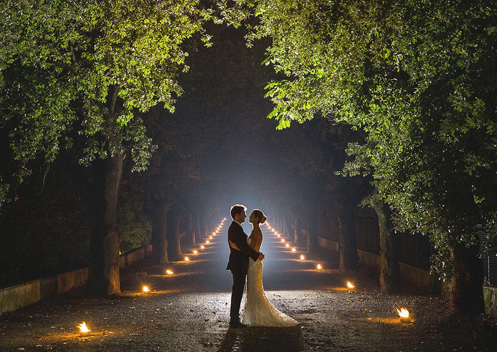 Villa Corsini mezzomonte luxury Tuscan wedding venue driveway