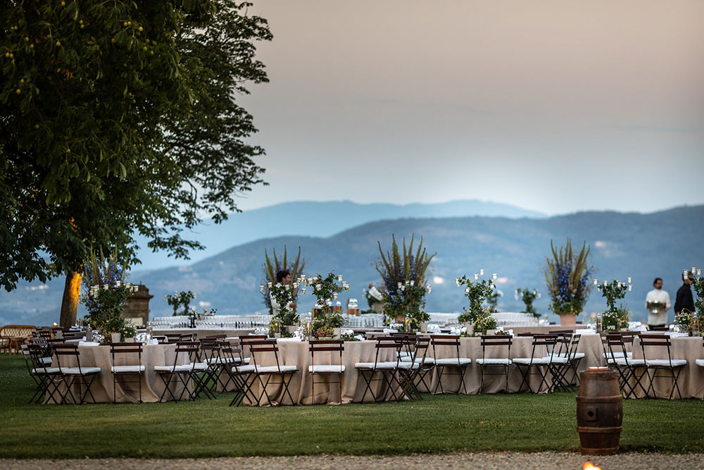 Villa Corsini mezzomonte luxury Tuscan wedding gardens