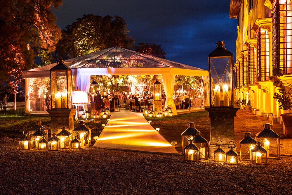Villa Corsini mezzomonte luxury Tuscan wedding gazebo