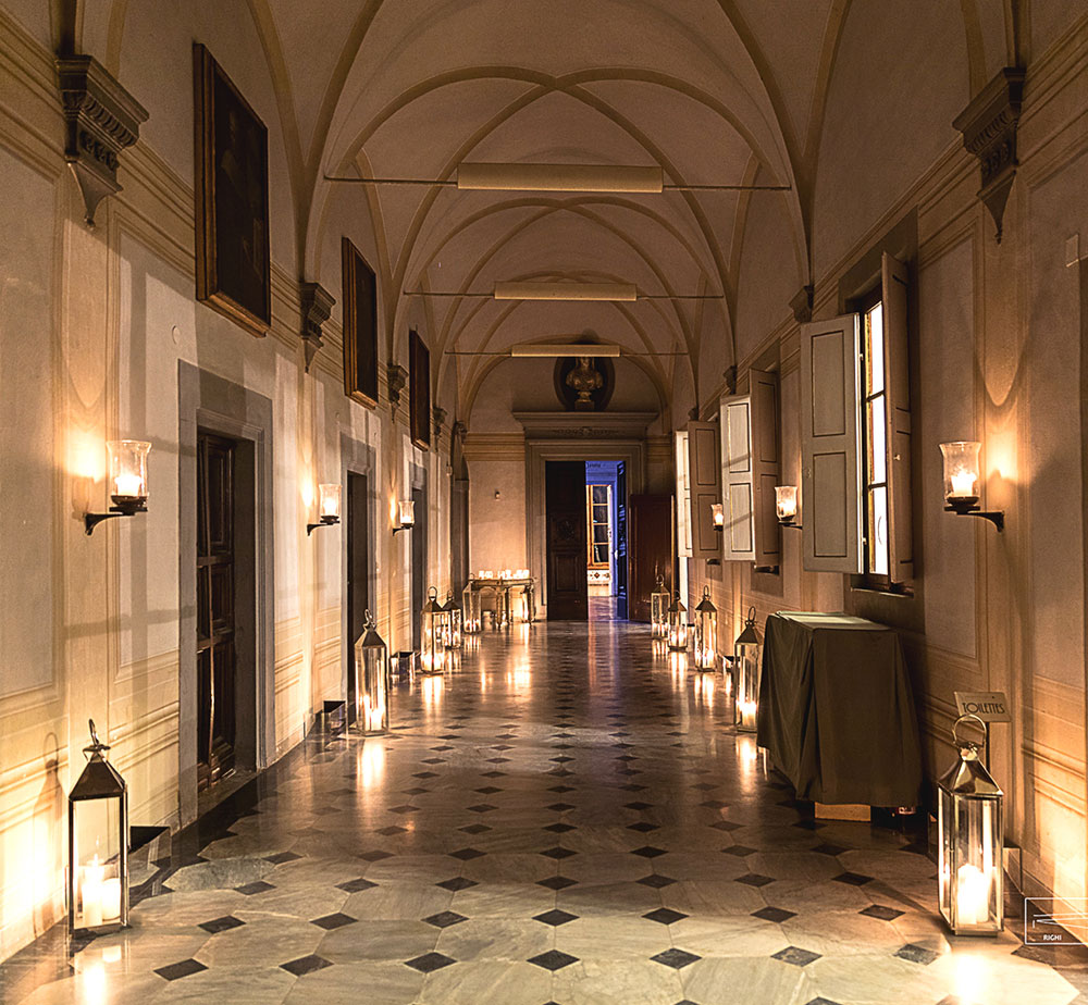 Villa Corsini mezzomonte luxury Tuscan wedding internal