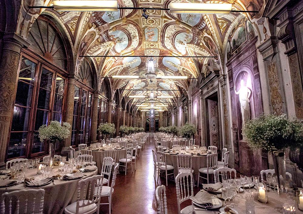 Villa Corsini mezzomonte luxury Tuscan wedding hall