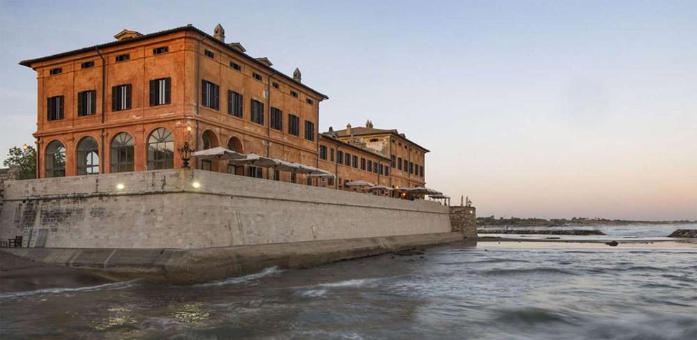 Coastal villa near Rome wedding venue panorama