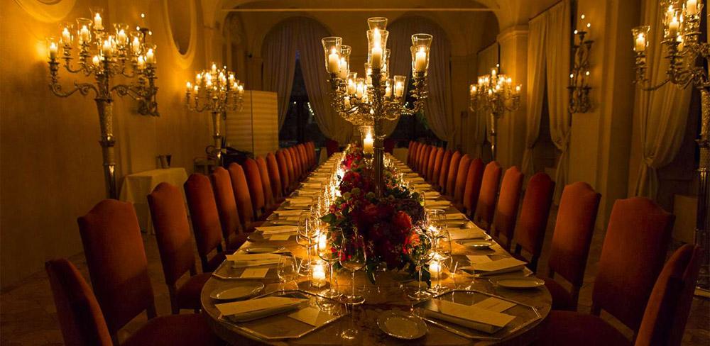 Coastal villa near Rome wedding venue meal