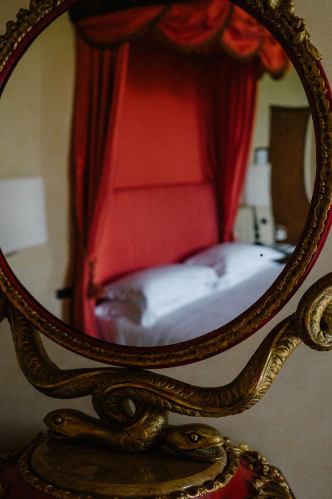 Coastal villa near Rome wedding venue bedroom