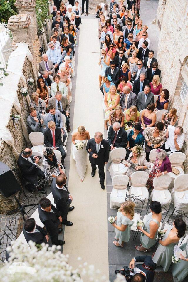 Italy Umbria small luxury hotel wedding venue ceremony